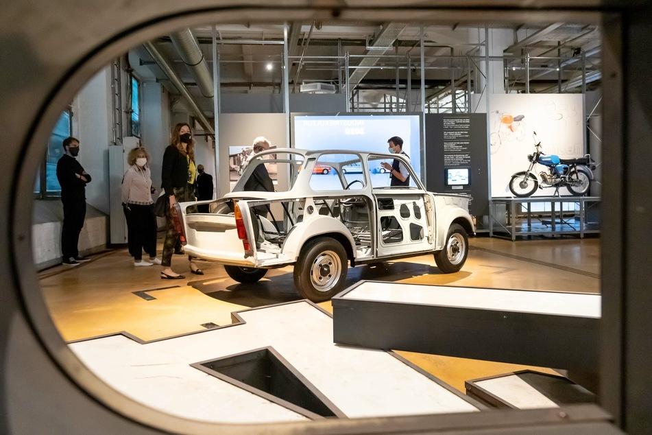 """Im Audi Bau in Zwickau findet die 4. Sächsische Landesausstellung """"Boom"""" statt."""