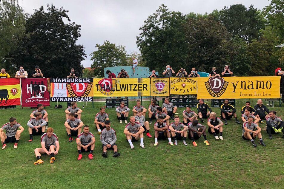 Zahlreiche Dynamo-Anhänger reisten nach Heiligenstadt.
