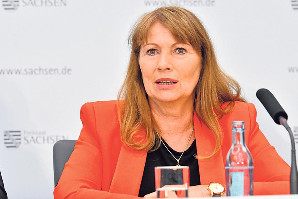 """Setzt beim Mundschutz auf die """"Vernunft der Menschen"""": Gesundheitsministerin Petra Köpping (61, SPD)."""