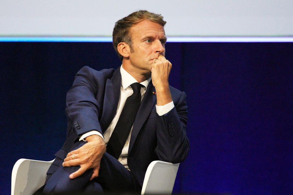 Ist das seine Präferenz? Emmanuel Macron (43) empfängt zunächst Olaf Scholz und danach Armin Laschet.