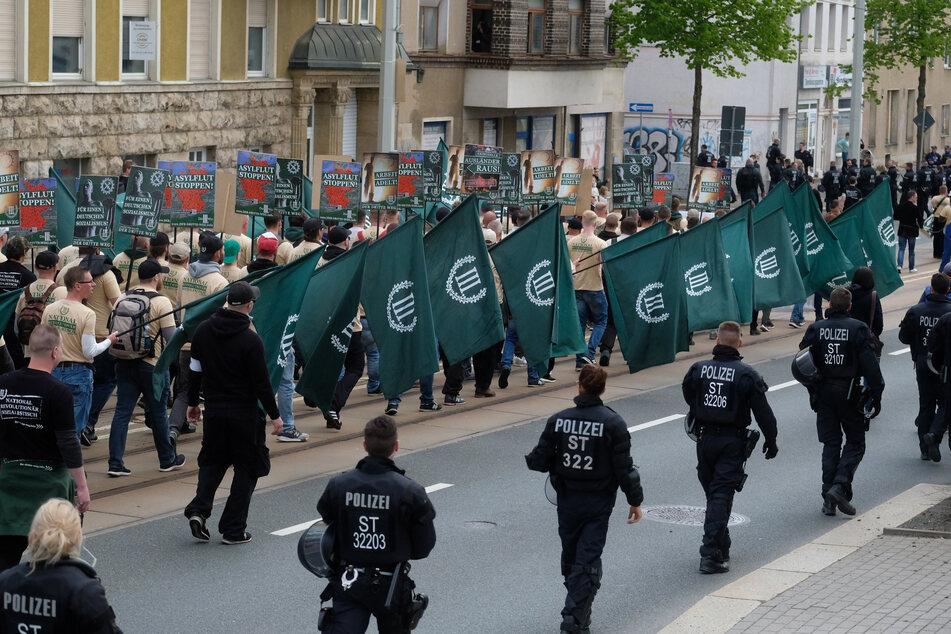 """Am 1. Mai 2019 sorgte der Aufmarsch des """"Dritten Wegs"""" für bundesweite Empörung."""
