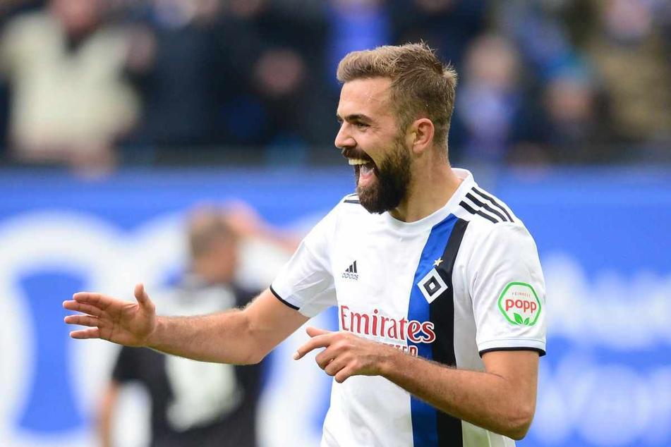 Stürmer Lukas Hinterseer (30) ging eineinhalb Jahre für den Hamburger SV auf Torejagd. (Archivbild)