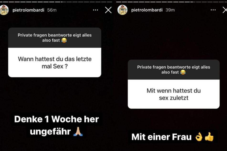 Pietro Lombardi (28) hielt mit seinen Fans bei Instagram eine ziemlich private Fragerunde ab. Der Sänger beantwortete sogar Details zu seinem Sexleben.