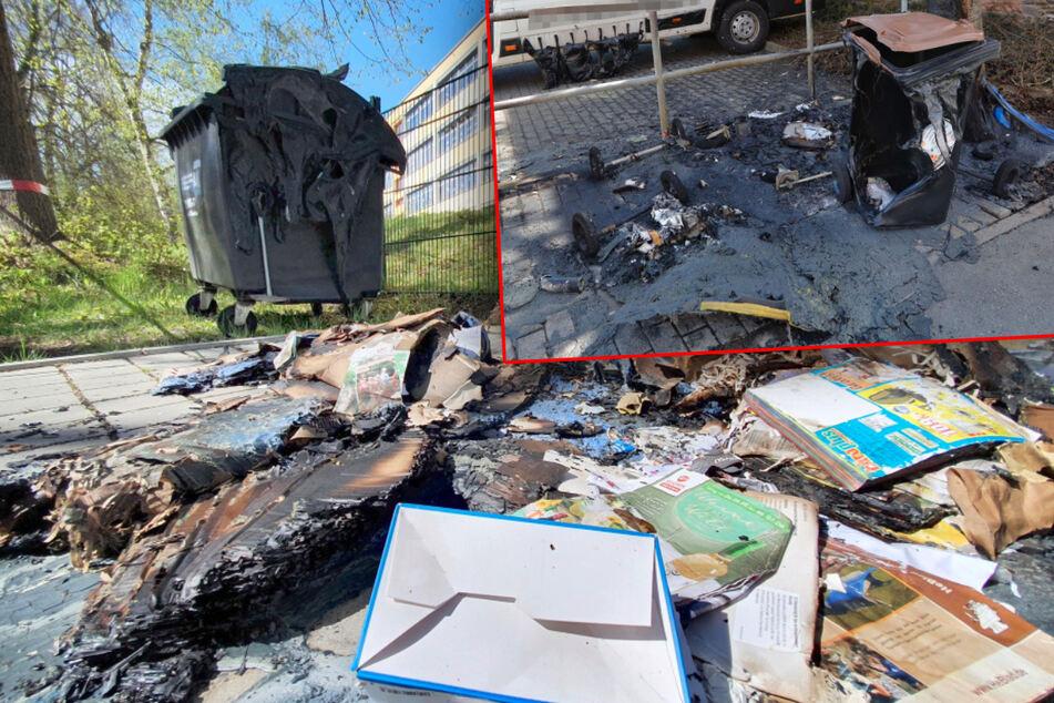 Chemnitz: Brandserie geht weiter! Schon wieder Container in Chemnitz in Flammen