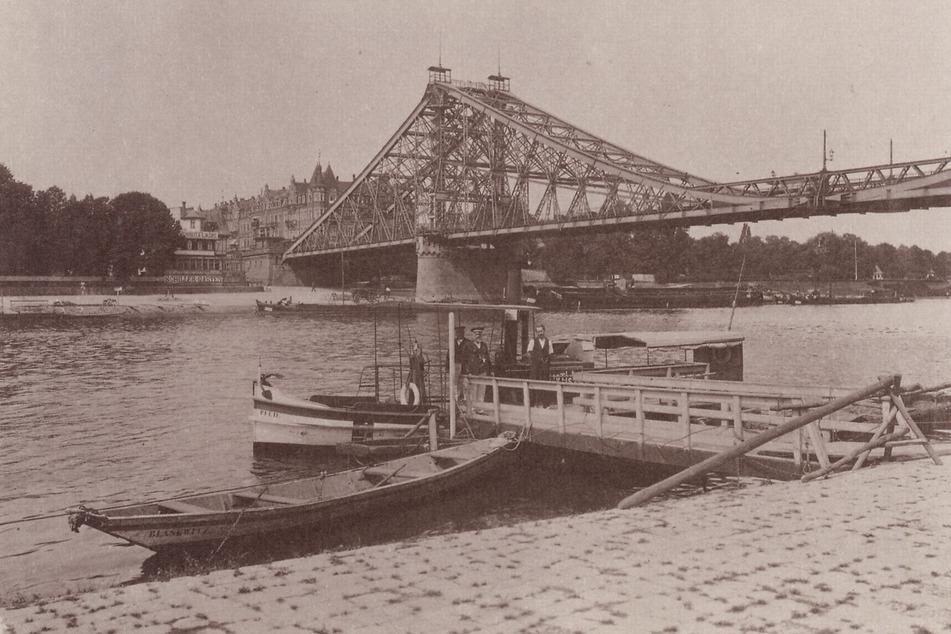 Die Zwickauer Firma stellte vor über 100 Jahren das Blaue Wunder in Dresden her.