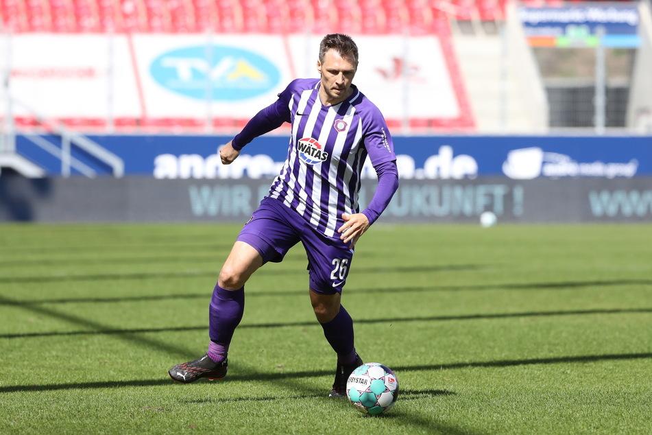 FCE-Routinier Sören Gonther (34) möchte mit seinen Veilchen endlich mal im Pokal ein Stück weiter kommen.