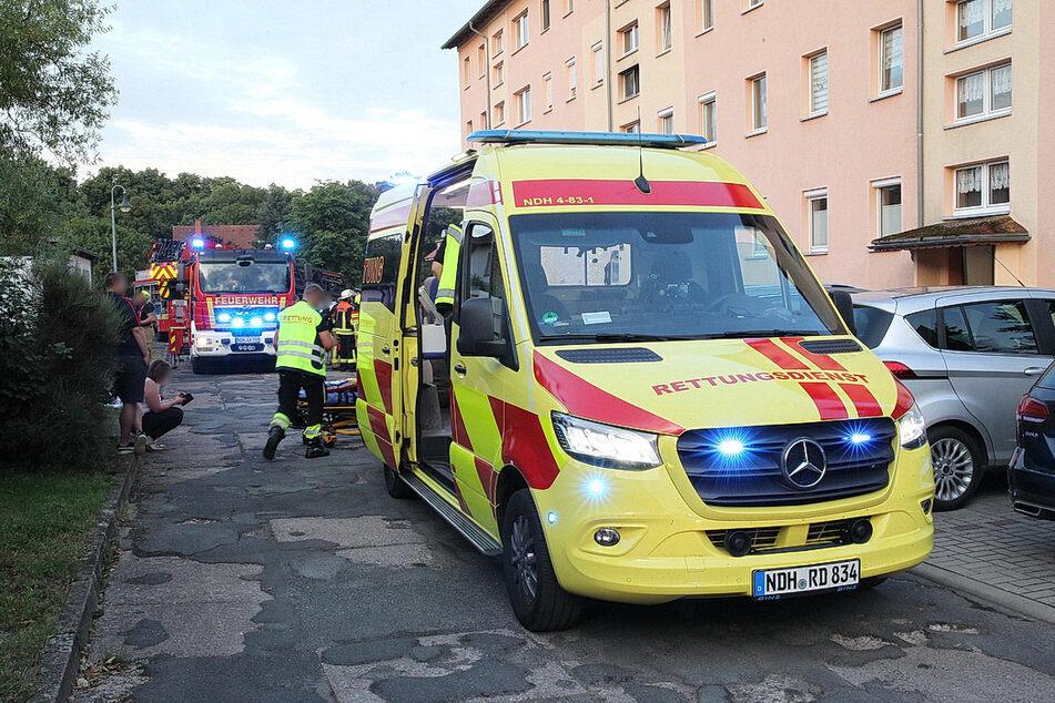 Die Feuerwehr und der Rettungsdienst waren vor Ort.