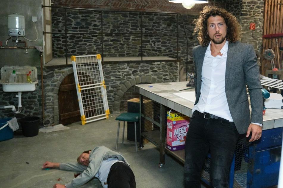Luke Färber (Jakob Graf) steht unter Schock - hat er Marius Popovic (Torsten Knippertz) etwa umgebracht?