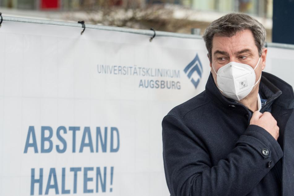 """Laut Bayerns Ministerpräsident Markus Söder (CSU) entwickelt sich die """"Querdenken""""-Bewegung """"sektenähnlich""""."""