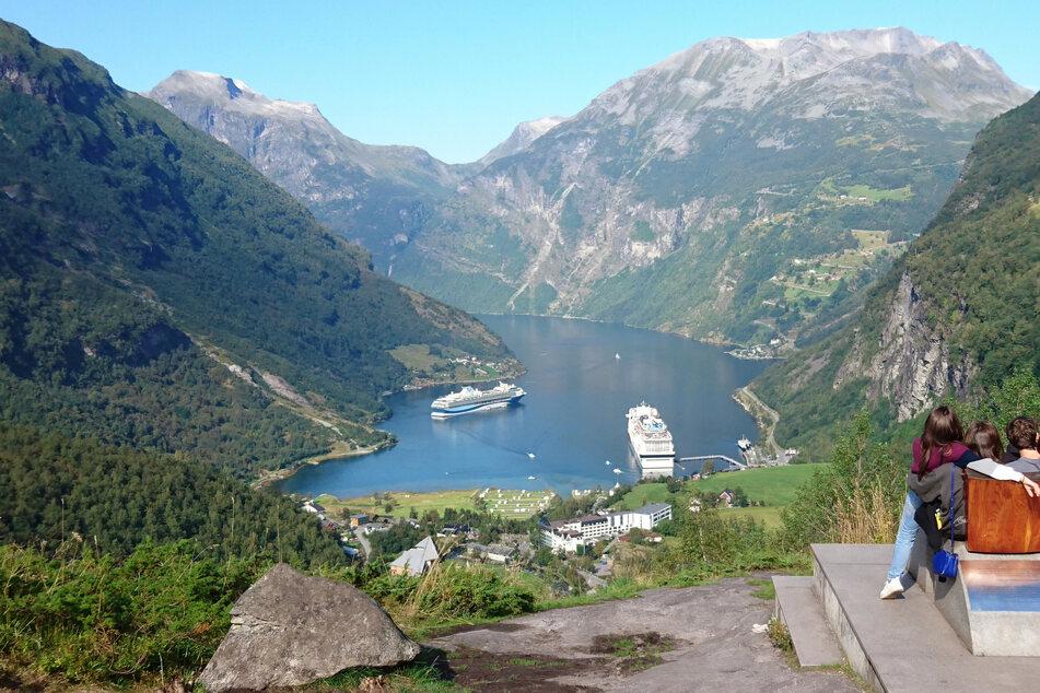 Der Geirangerfjord im Südwesten Norwegens. Deutsche Touristen dürfen dort nun offiziell wieder hinreisen. (Archivbild)