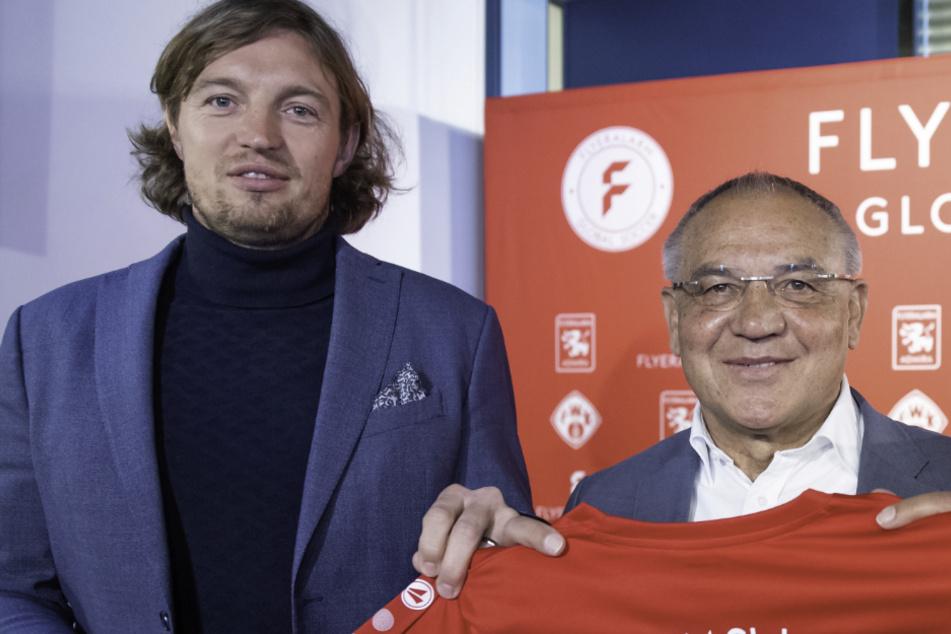 Würzburgs Vorstands-Chef Daniel Sauer (l.) lobt die klare DFB-Ansage.