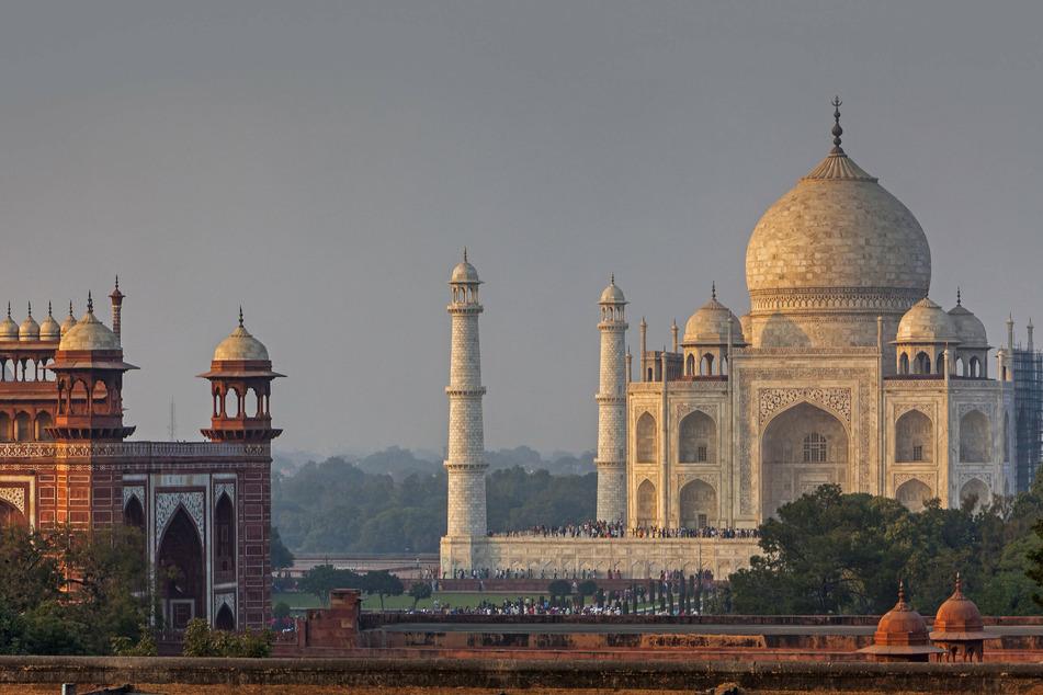 The Taj Mahal attracts seven to eight million visitors per year.