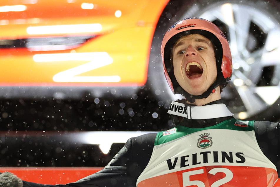 Abgehoben: Skispringer Geiger bei Tournee-Auftakt auf Siegkurs