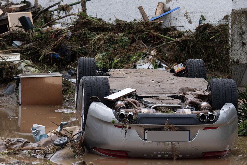 Weitgehend zerstört und überflutet ist das Dorf Insul in Rheinland-Pfalz nach massiven Regenfällen und dem Hochwasser der Ahr.