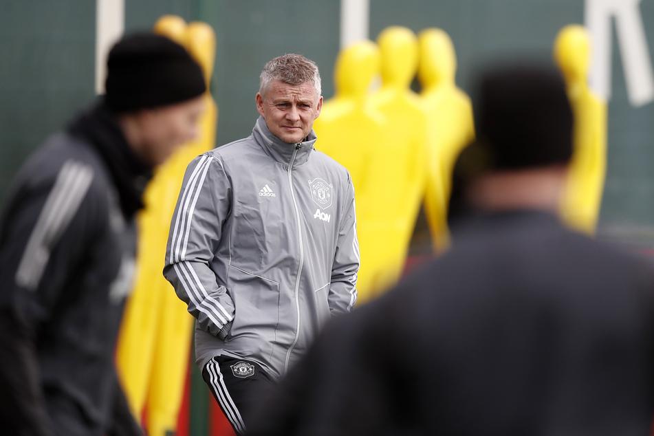 Ole Gunnar Solskjaer (M), Trainer von Manchester United.