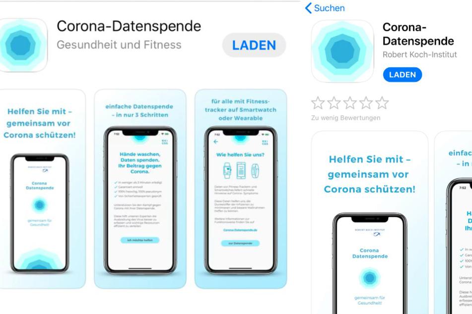 Die Corona-App ist nun verfügbar.
