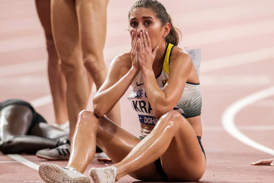 Das Foto aus dem September 2019 zeigt die Sportlerin Gesa Krause aus Frankfurt.