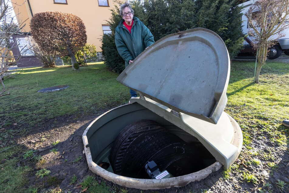 Ilona Günther (69) aus Adelsberg ist weiter auf ihre Kleinkläranlage angewiesen.