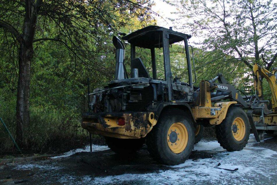 Wieso der Radlader anfing zu brennen, muss noch geklärt werden.