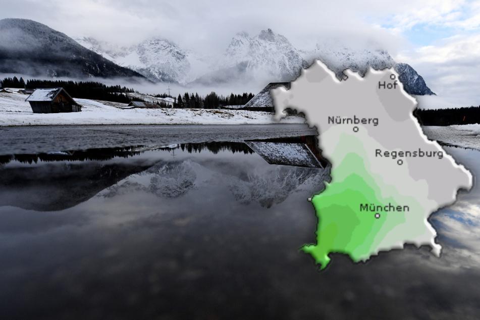Stark bewölkt und neblig: So wird das Wetter in Bayern