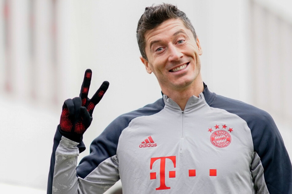 Robert Lewandowski (32) fehlt ein Treffer zu einer Legende. Wird der Pole gegen RB Salzburg das nächste Mal jubeln dürfen?