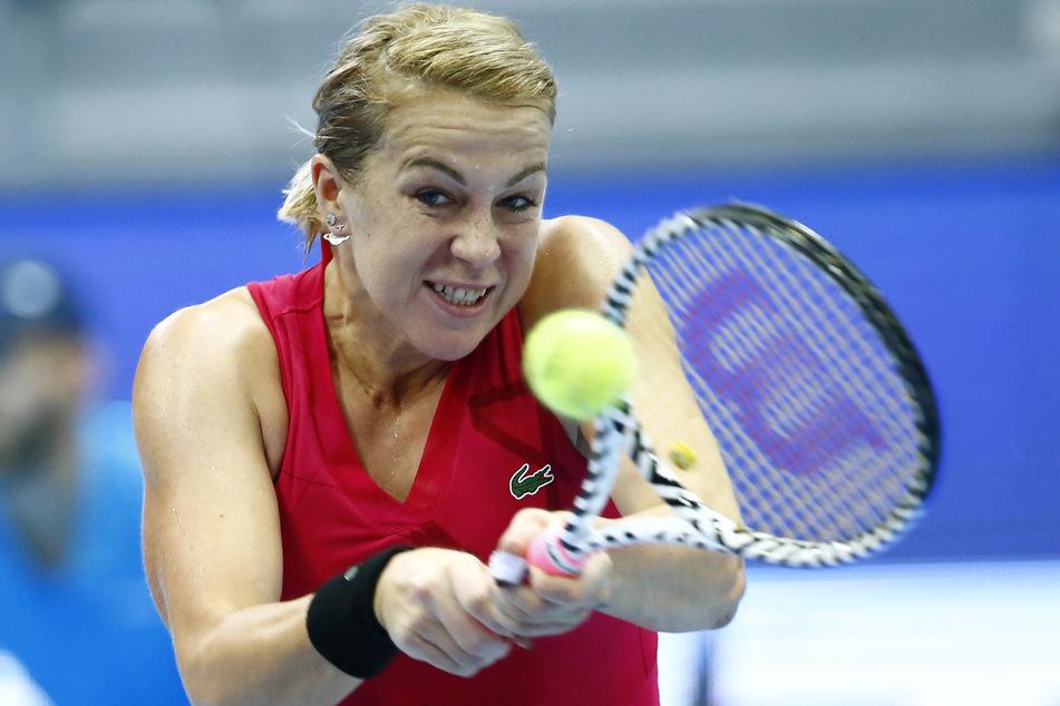 Anastasia Pavlyuchenkova in Aktion in Moskau.
