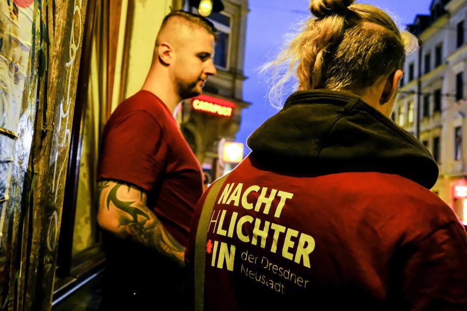 """Seit Anfang Juli sind in der Neustadt """"Nachtschlichter"""" unterwegs, ein Nachtbürgermeister könnte dieses Angebot ergänzen."""
