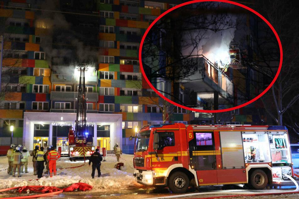 Großbrand in Johannstadt: Hochhaus evakuiert, Junge (2) tot!