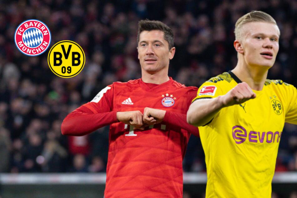 Torjägerduell beim Ligagipfel: Haaland und Lewandowski im Vergleich