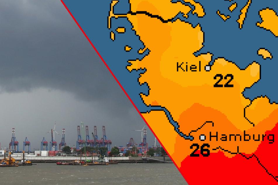 Starkregen, Gewitter & Hagel: So heftig wird das Wetter am Wochenende in Hamburg