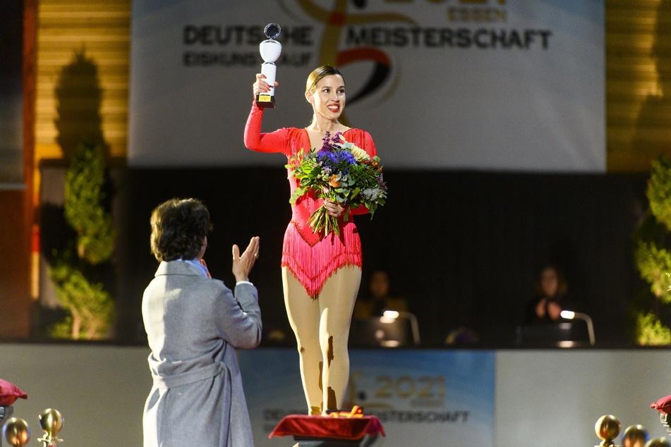 Chiara hatte sich in der letzten AWZ-Woche den Sieg bei der Deutschen Eislauf-Meisterschaft geholt.
