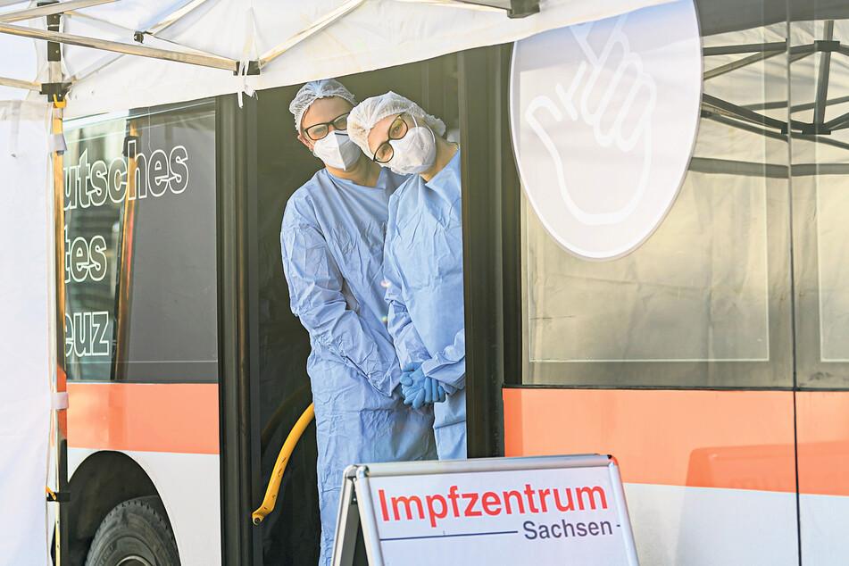 Durch Dresden rollen jetzt die mobilen Impfteams.