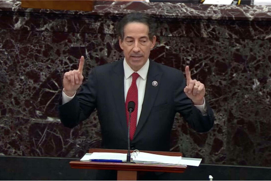 Democratic Congressman from Maryland Jamie Raskin is acting as House impeachment manager.