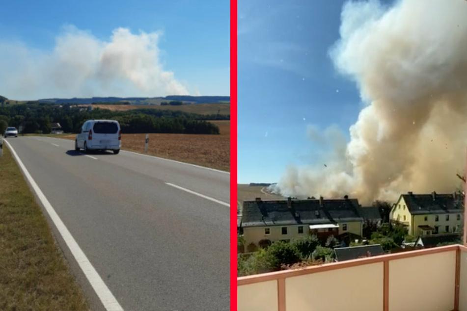 Rauchwolke kilometerweit zu sehen: Was brennt da?