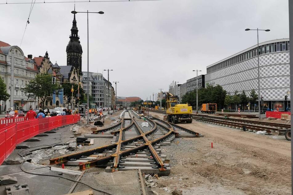Noch vor wenigen Wochen sah es am Goerdelerring nach Großbaustelle aus.