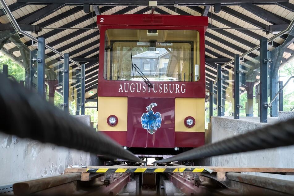 """Die Drahtseilbahn Augustusburg wird in der kommenden Woche """"winterfest"""" gemacht."""