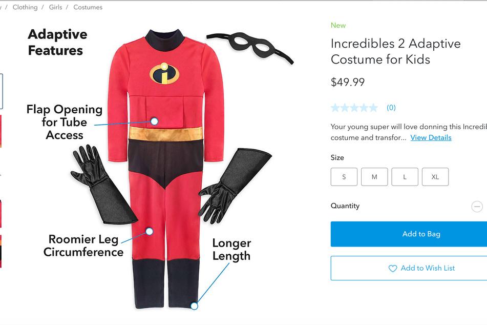 Das Incredibles-Kostüm. Passend dazu gibt es noch die Rollstuhl-Verkleidung.