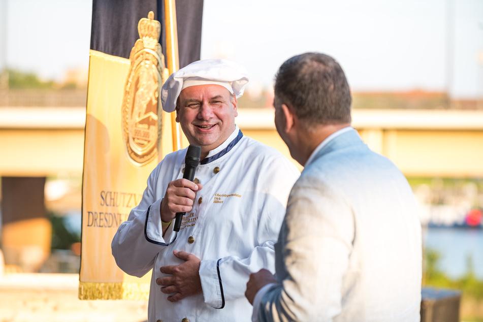 Ein OB zum Anbeißen... Oberbürgermeister Dirk Hilbert (49, FDP) war beim Jubiläum dabei.