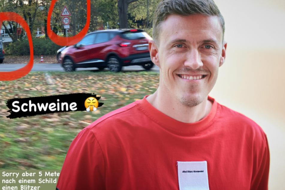 Union-Star Max Kruse (32) geriet in eine Radarfalle. (Bildmontage)