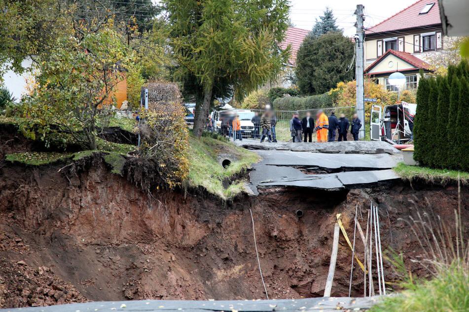 Riesiger Krater: Zehn Jahre nach dem Erdfall von Schmalkalden