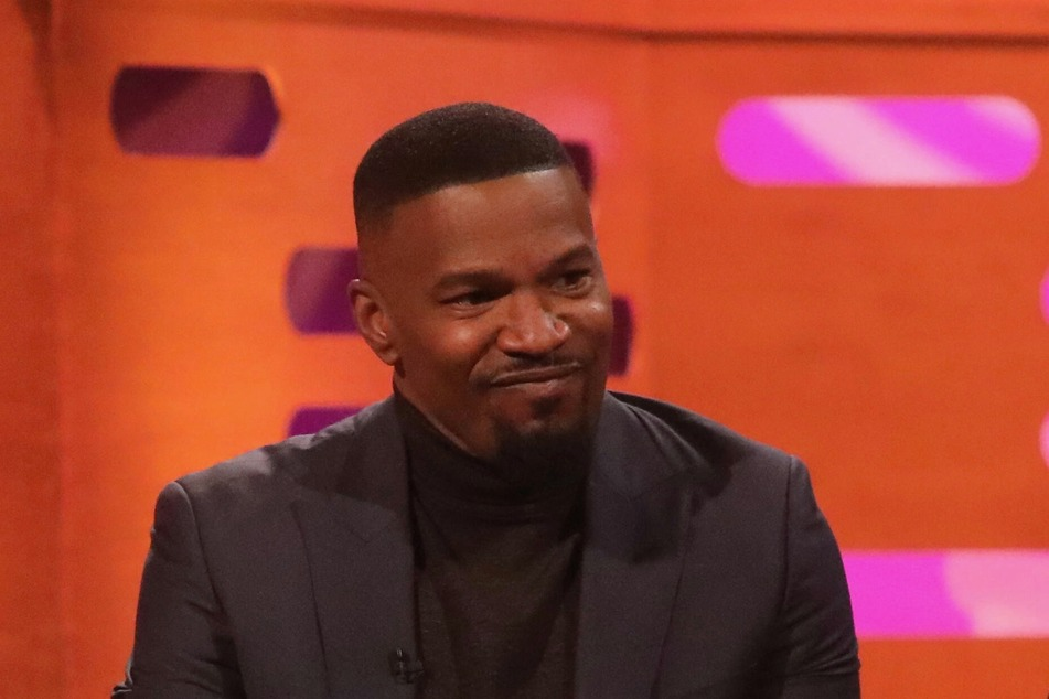 Jamie Foxx appearing on the Graham Norton Show.