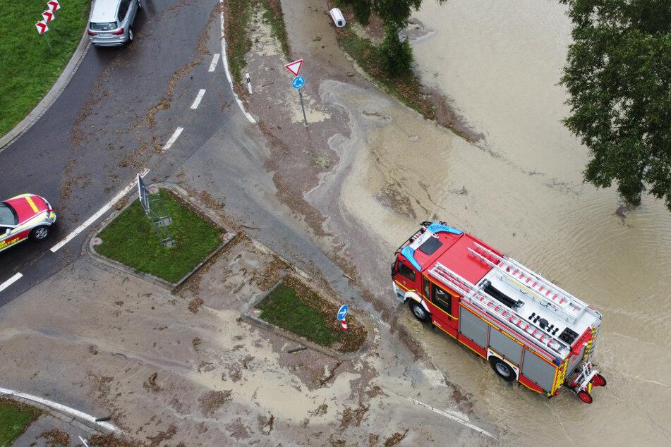 Nach Angaben des Polizeipräsidiums in Kempten musste die Feuerwehr mehrfach ausrücken.