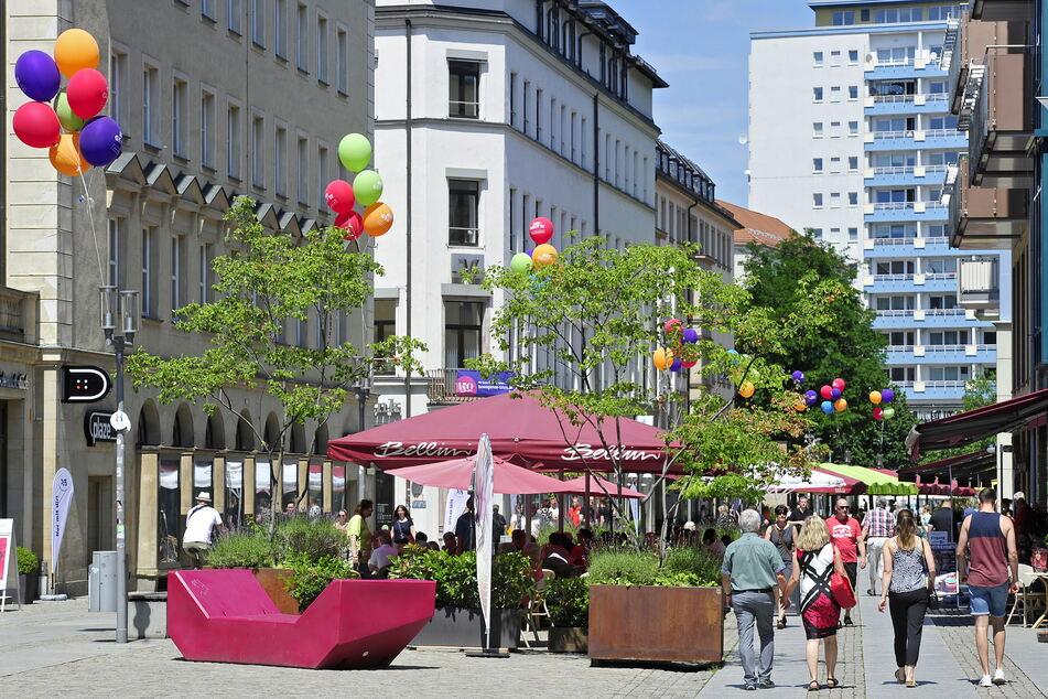 Die Chemnitzer Innenstadt lädt besonders im Sommer zum Verweilen ein.