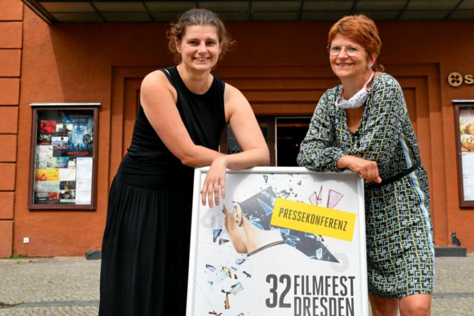 Die beiden Festivalleiterinnen Anne Gaschütz (l.) und Sylke Gottlebe. Das 32. Filmfest fand vom 8. bis zum 13. September in Dresden statt.