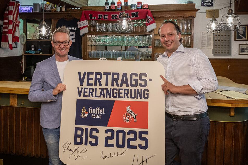 Das Bier ist beim 1. FC Köln schonmal vertraglich gesichert: Gaffel schenkt weiter aus.