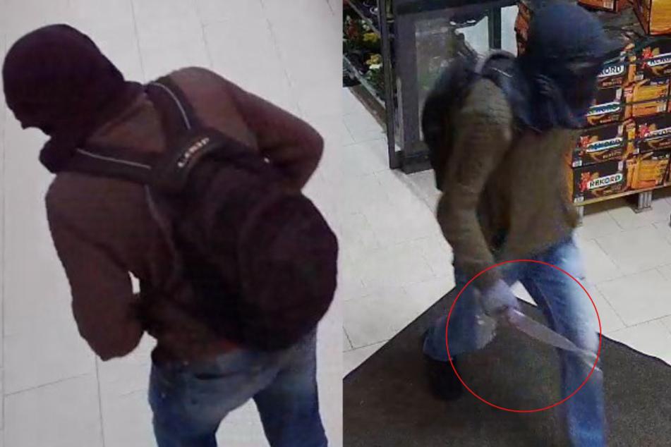 35-Jährige bedroht: Polizei sucht maskierten Messer-Mann