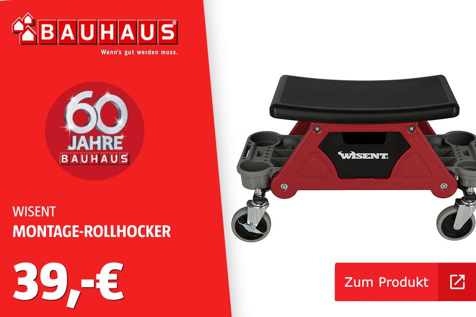 Montage-Rollhocker für 39 Euro.