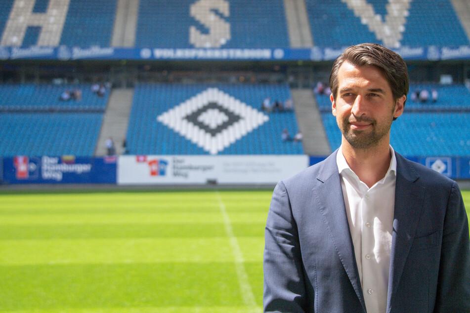 HSV-Sportvorstand Jonas Boldt (39) hat sich auf einer Pressekonferenz zur Trennung von Coach Daniel Thioune (46) geäußert. (Archivfoto)