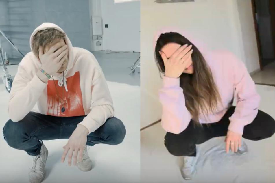 Die Fans stellen einzelne Bilder aus dem Video nach.