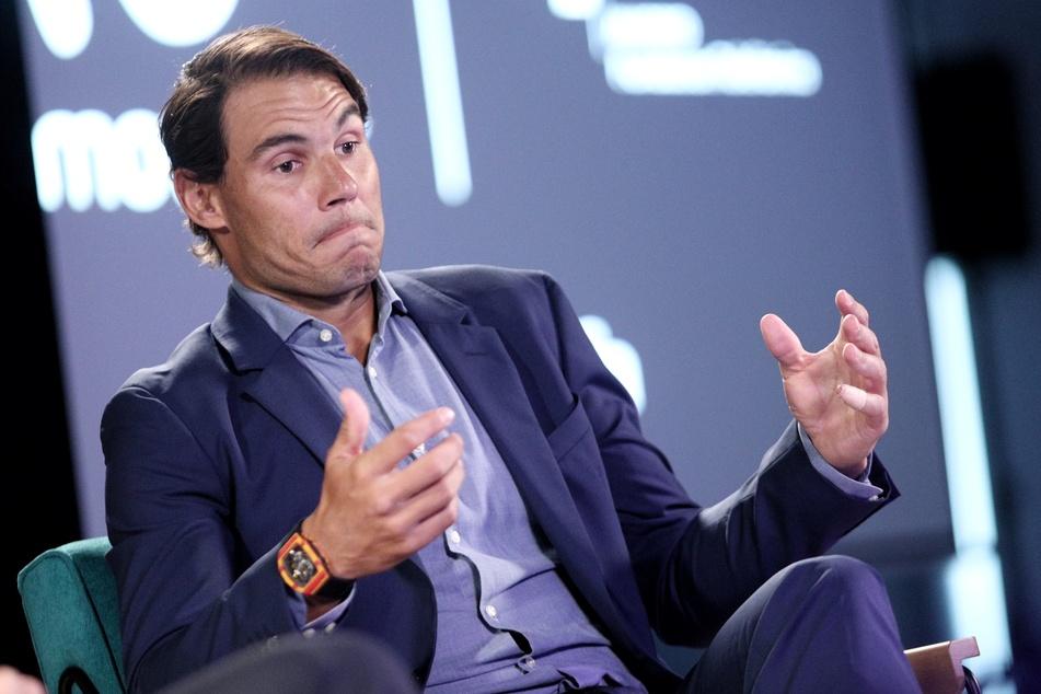 Rafael Nadal, spanischer Tennisspieler, spricht auf einer Veranstaltung der Fundacion Telefonica.